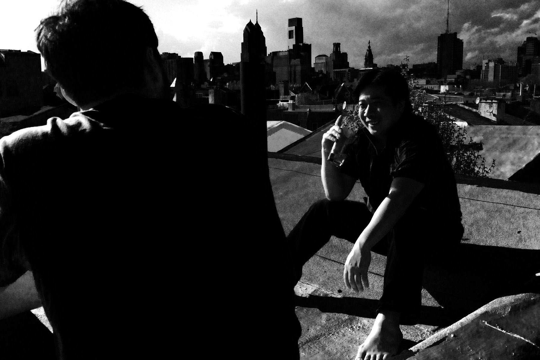 My lifelong friend Benny on a rooftop in south Philly